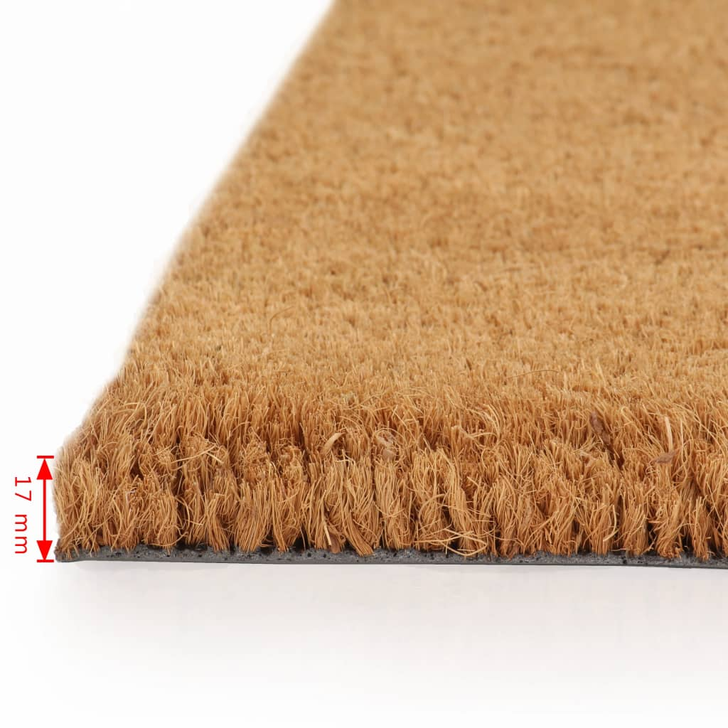 Doormat Coir 17 mm 190x200 cm Natural