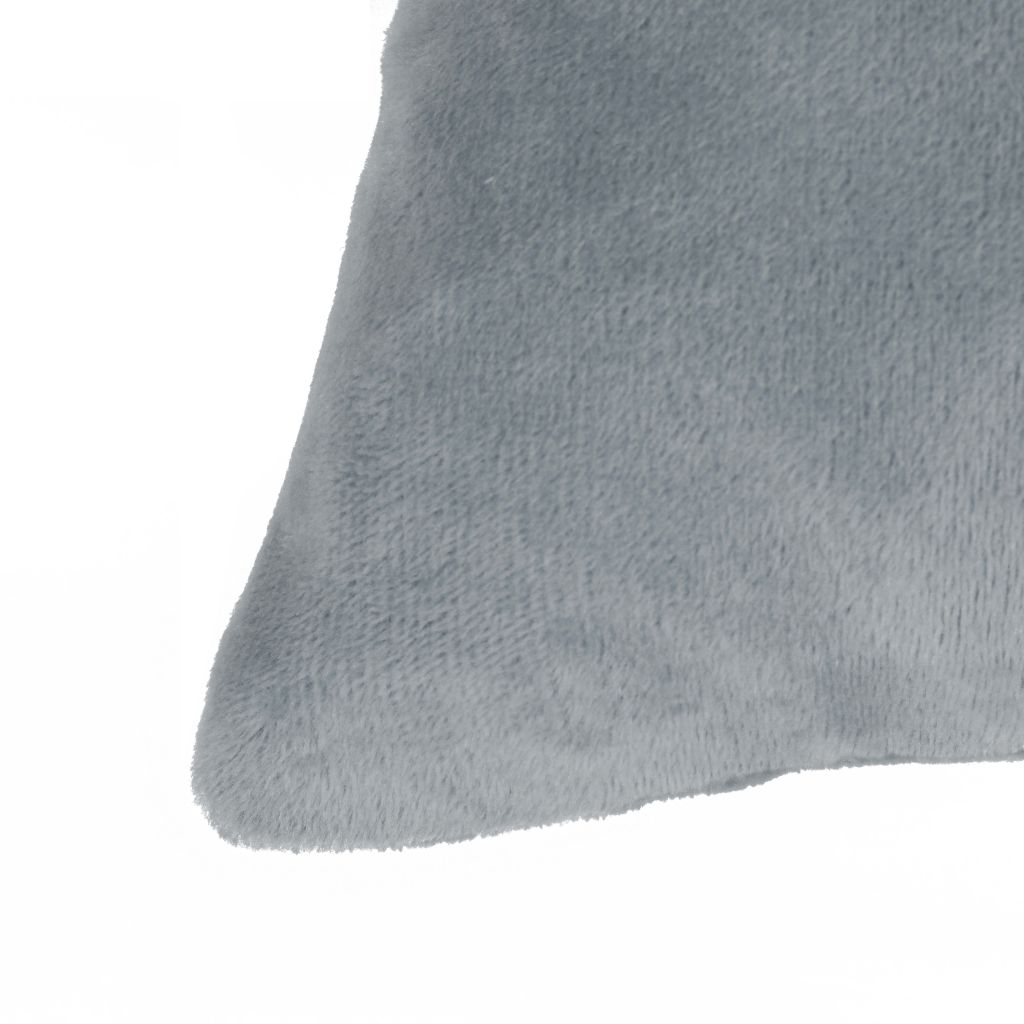 Cushion Covers 4 pcs Velour 40x40 cm Grey