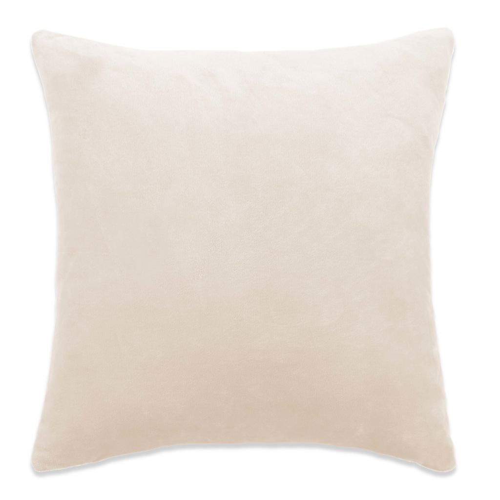 Cushion Covers 4 pcs Velour 50x50 cm Off White