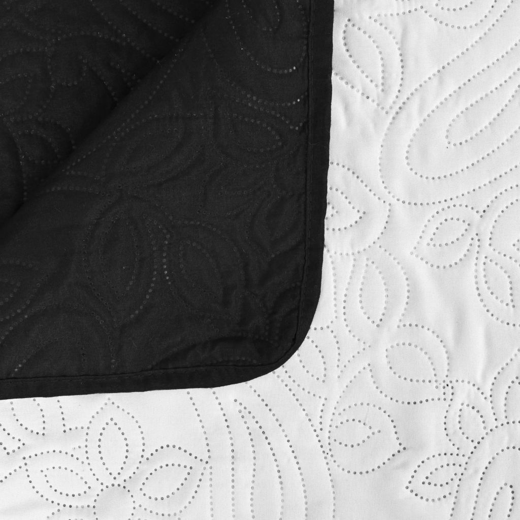 Double-sided Quilted Bedspread 170x210 cm Black and White