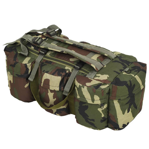 3-in-1 Army-Style Duffel Bag 120 L Camouflage