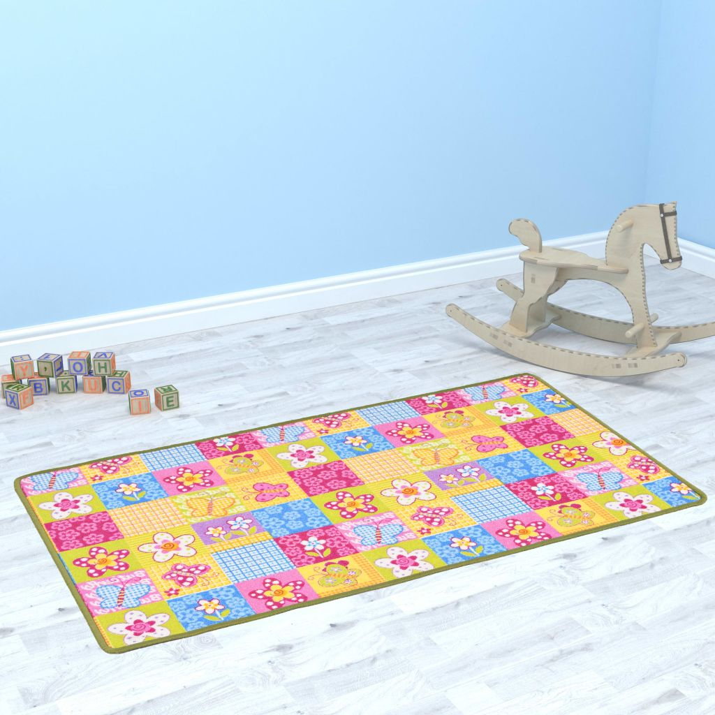 Play Mat Loop Pile 67x120 cm Butterfly Pattern