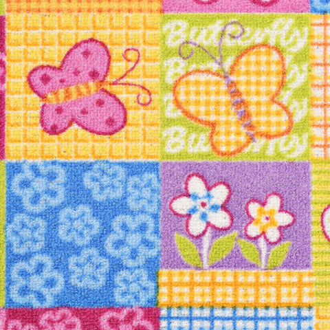 Play Mat Loop Pile 133x180 cm Butterfly Pattern