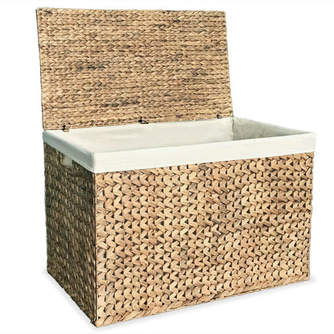 Laundry Basket 82x42.5x52.5 cm Water Hyacinth
