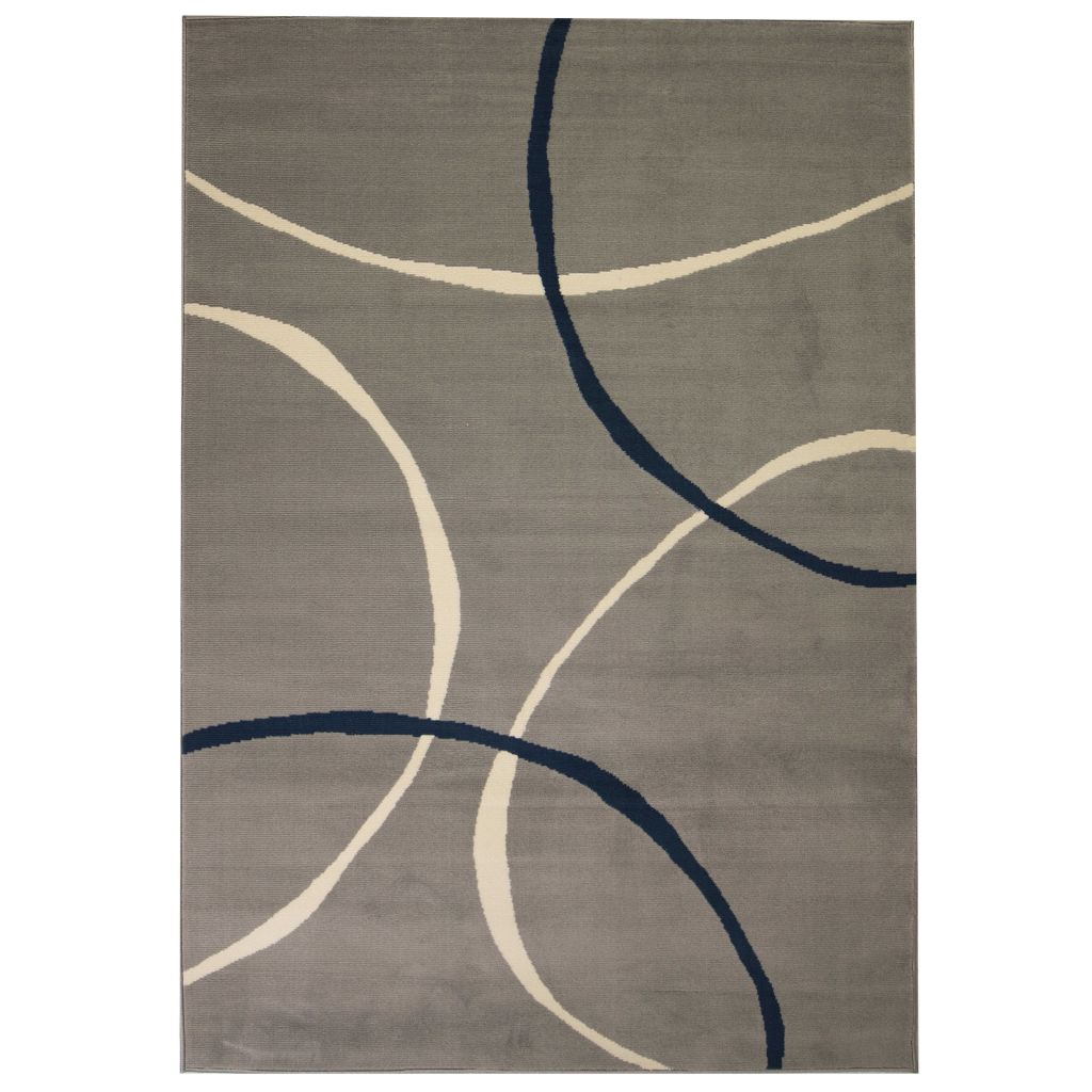 Modern Rug Circle Design 120x170 cm Grey