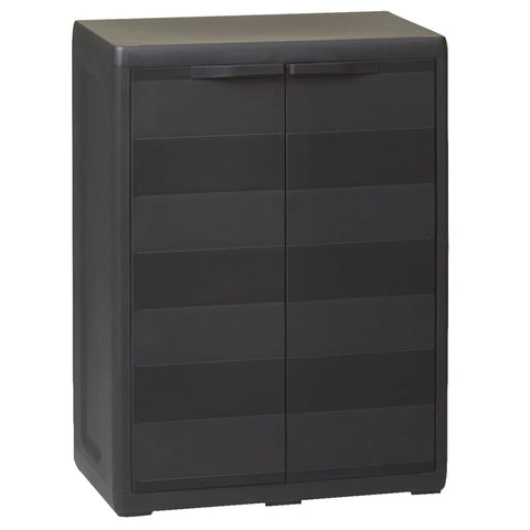 Garden Storage Cabinet with 1 Shelf Black