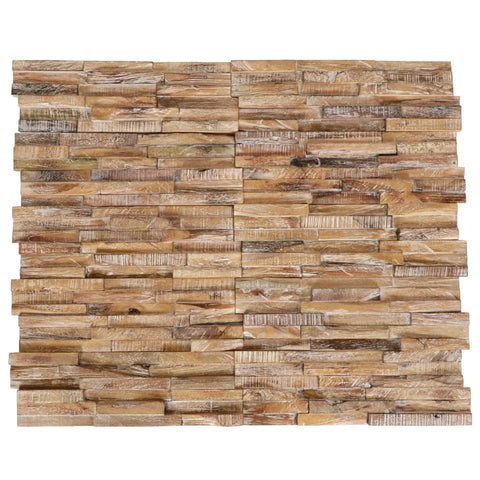 3D Wall Cladding Panels 10 pcs Solid Teak 1 m²