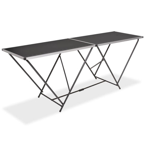 Folding Pasting Table MDF and Aluminium 200x60x78 cm