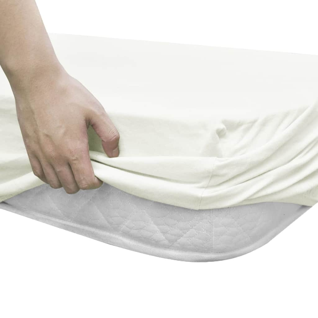 Fitted Sheets for Cots 4 pcs Cotton Jersey 60x120 cm Offwhite