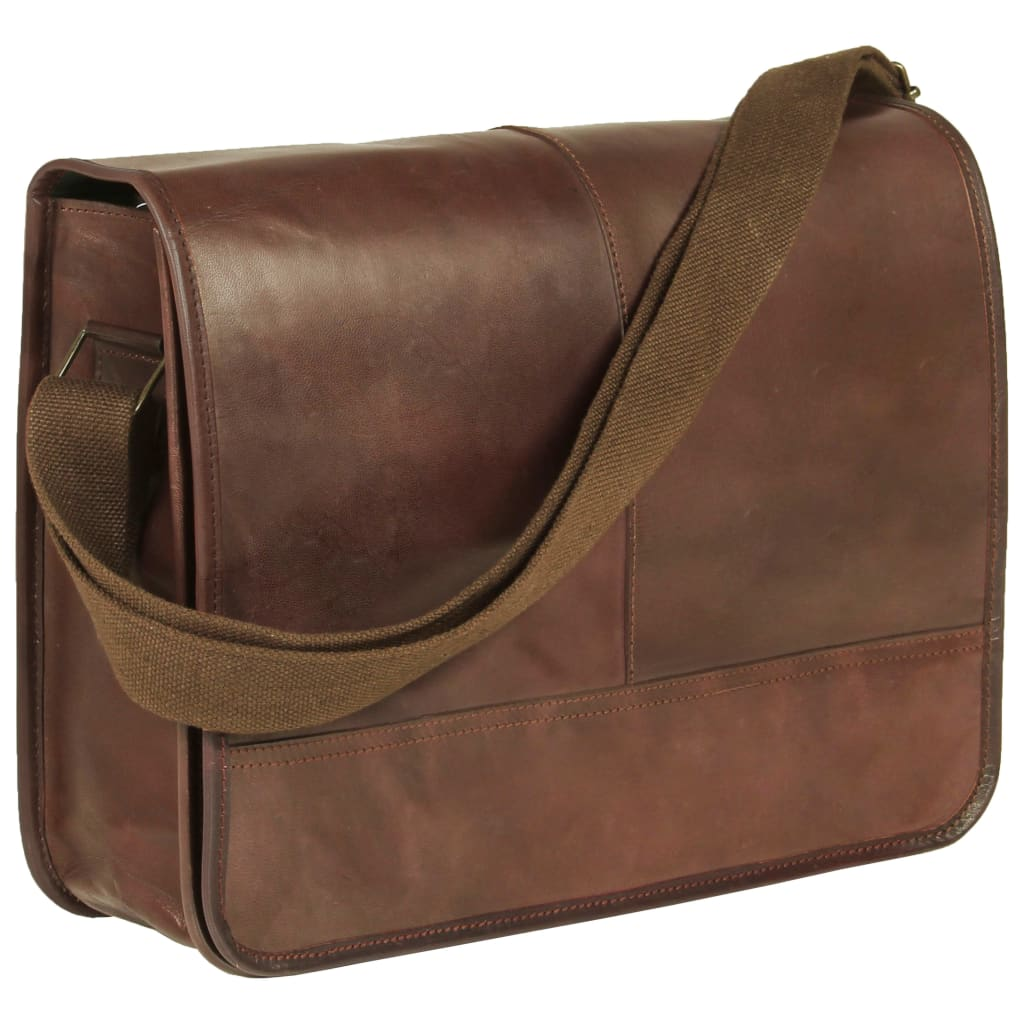 Messenger Bag Real Leather Brown
