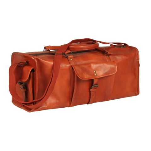 Duffel Bag Real Leather Tan