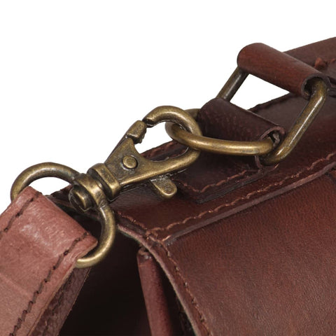 Satchel Bag Real Leather Brown