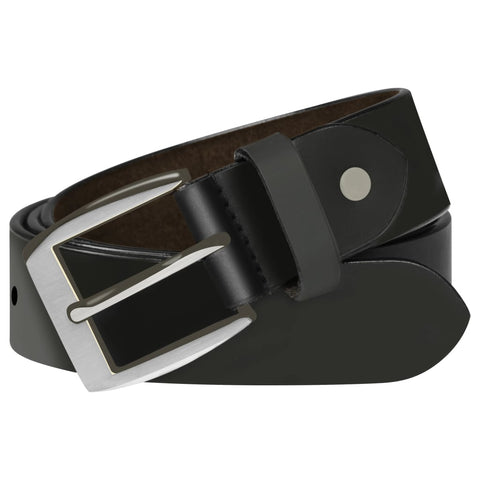 Men's Business Belt Leather Black 95 cm