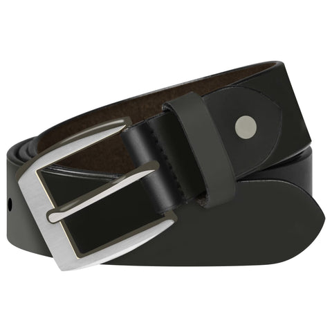 Men's Business Belt Leather Black 115 cm