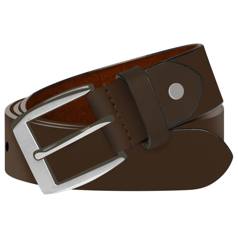 Men's Business Belt Leather Brown 105 cm