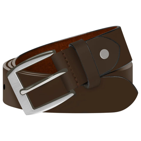 Men's Business Belt Leather Brown 125 cm