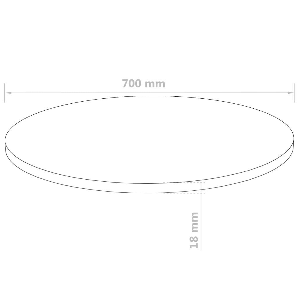 Table Top Round MDF 700x18 mm