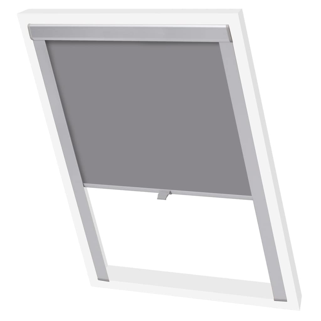Blackout Roller Blind Grey MK04