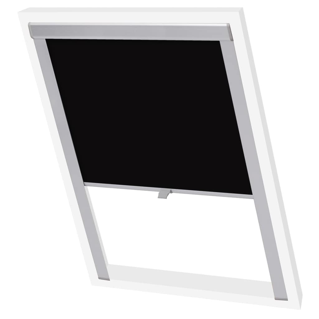 Blackout Roller Blind Black MK04