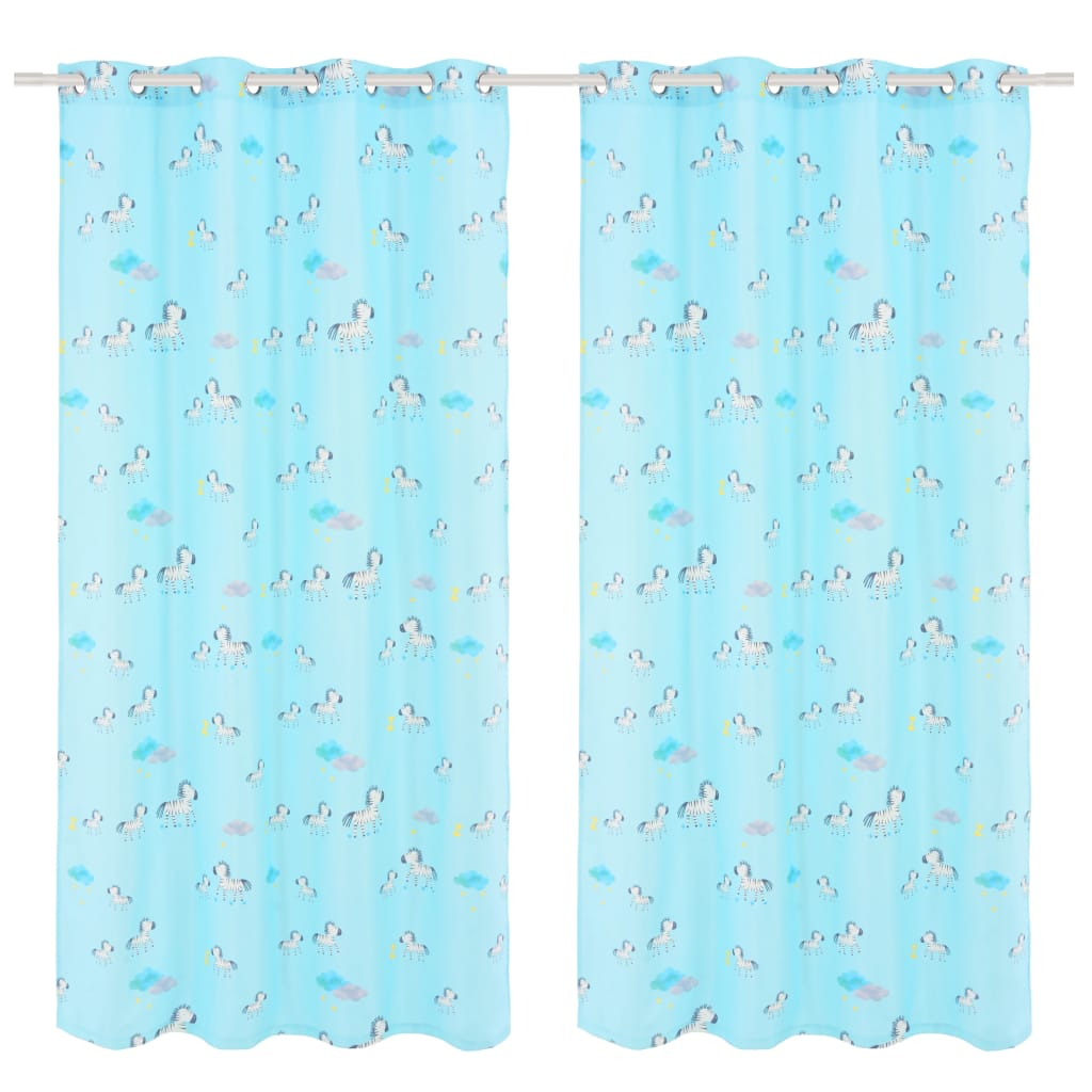 Children's Printed Blackout Curtains 2 pcs 140x240cm Zebra