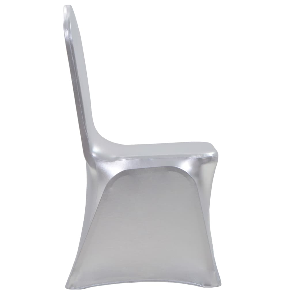 6 pcs Chair Covers Stretch Silver