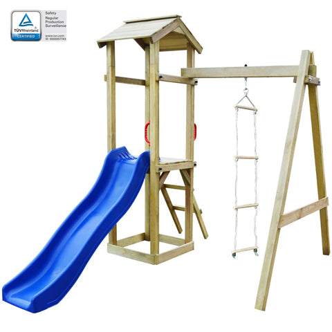 Playhouse Set with Slide Ladders 237x168x218 cm Wood