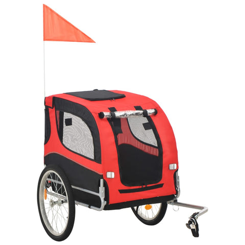 Dog Bike Trailer Red and Black