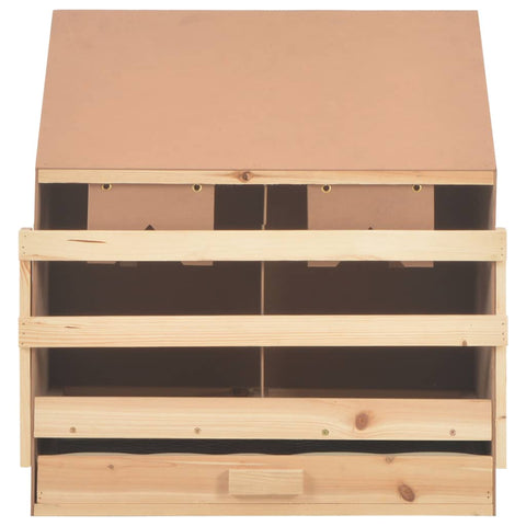 Chicken Laying Nest 2 Compartments 63x40x65 cm Solid Pine Wood