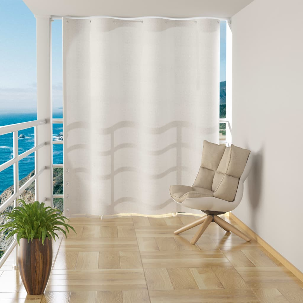 Hanging Balcony Screen White HDPE 140x230 cm