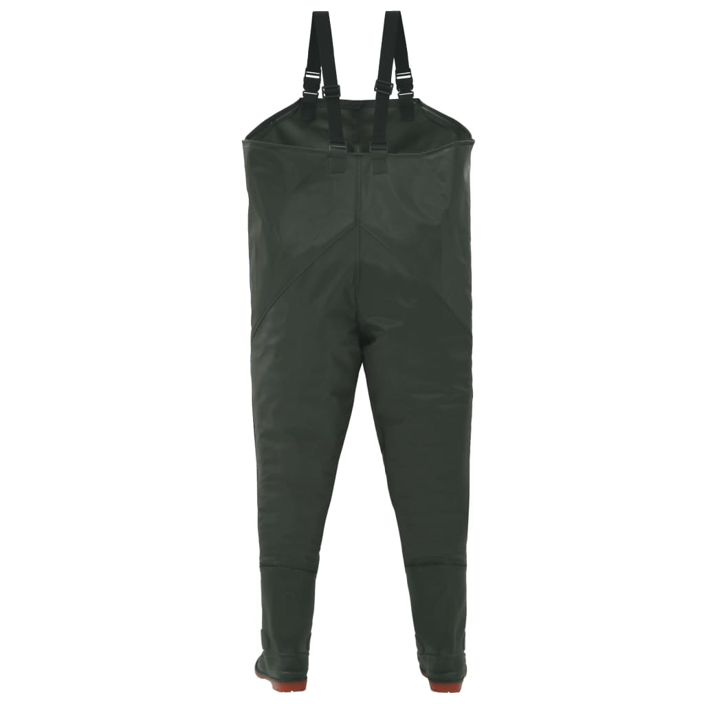 Wading Pants with Boots Green Size 46
