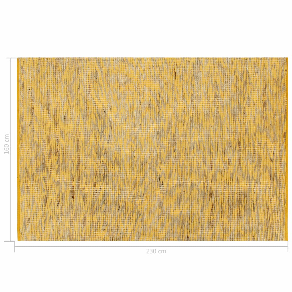Handmade Rug Jute Yellow and Natural 160x230 cm