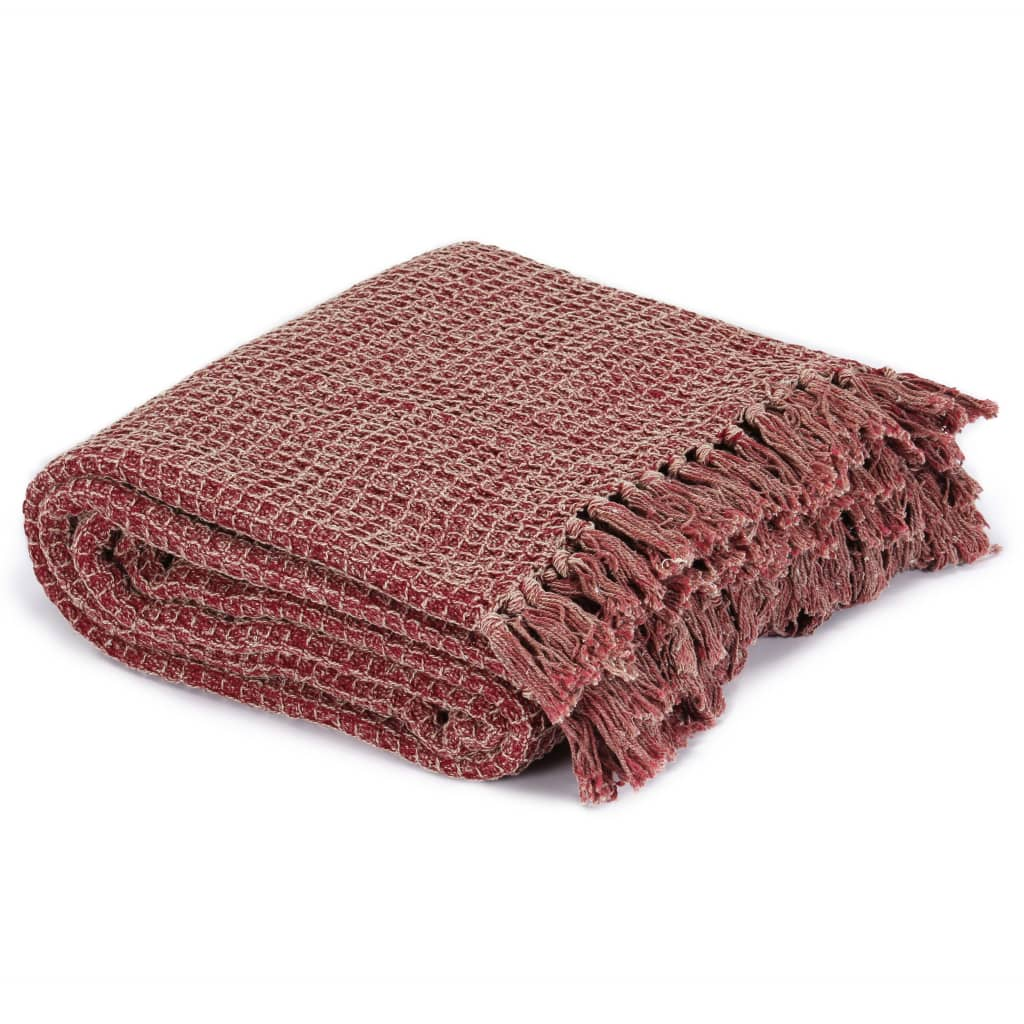Throw Cotton 220x250 cm Burgundy