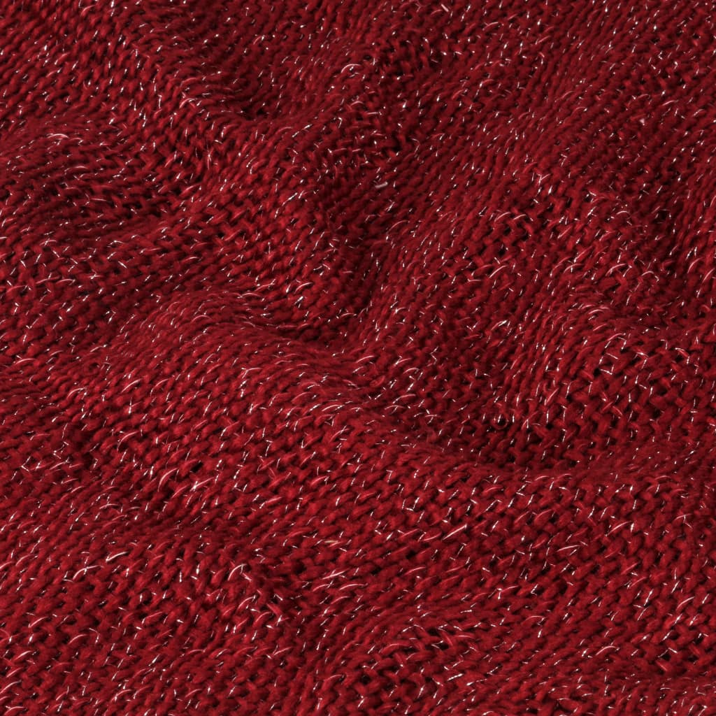 Throw Lurex 125x150 cm Burgundy