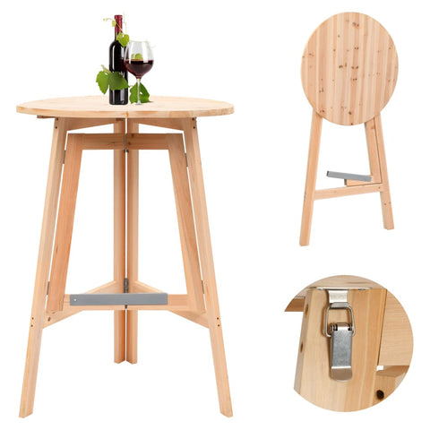 Foldable Bar Table 78 cm Fir Wood