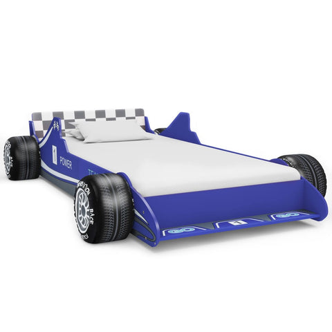 Children's Race Car Bed 90x200 cm Blue