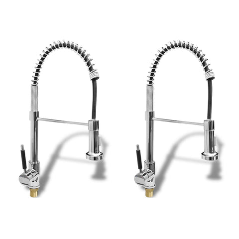 Kitchen Mixer Taps 2 pcs Chrome