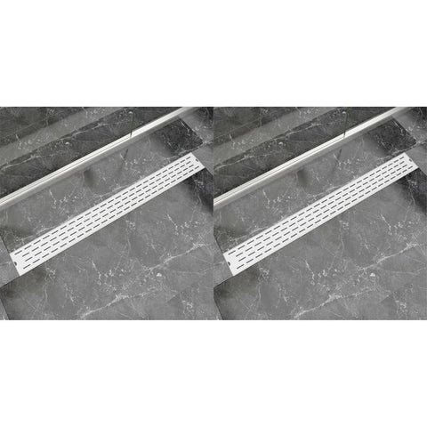 Linear Shower Drain 2 pcs Line 1030x140 mm Stainless Steel