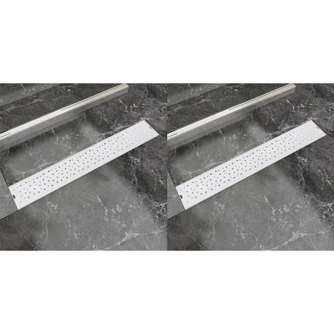 Linear Shower Drain 2 pcs Bubble 730x140 mm Stainless Steel