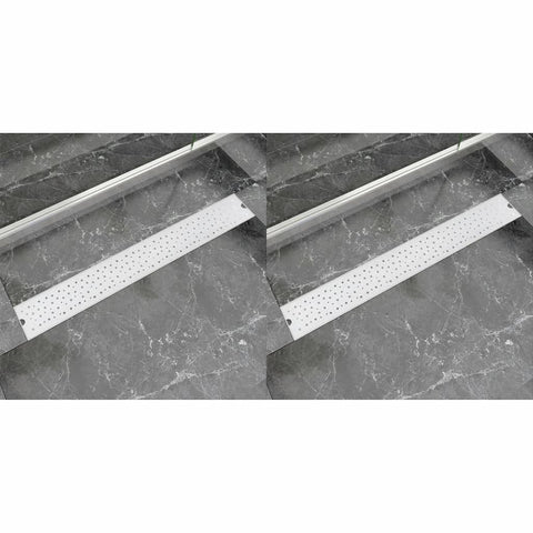 Linear Shower Drain 2 pcs Bubble 830x140 mm Stainless Steel