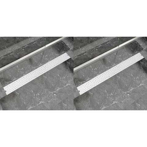 Linear Shower Drain 2 pcs Bubble 1030x140 mm Stainless Steel