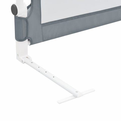 Toddler Safety Bed Rail Grey 102x42 cm Polyester
