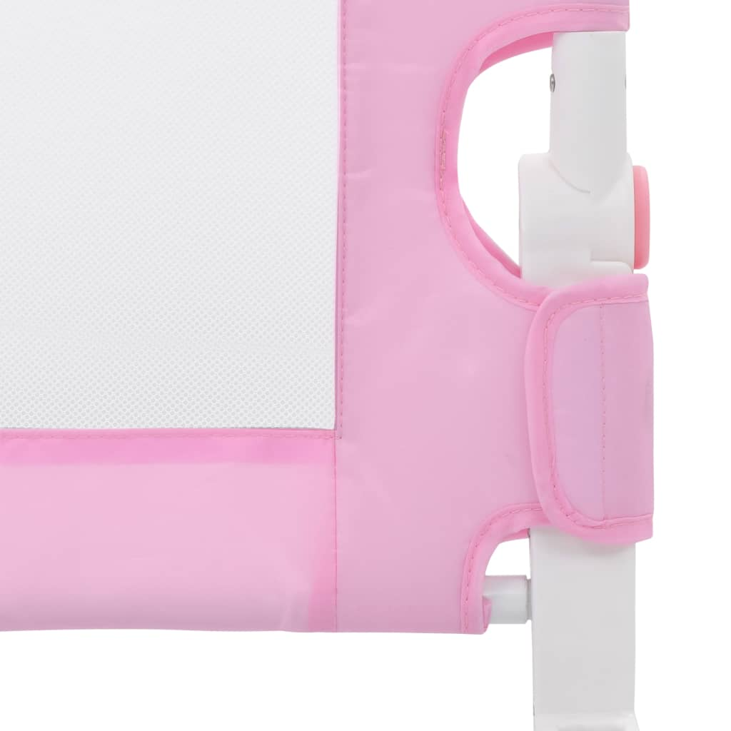 Toddler Safety Bed Rail Pink 120x42 cm Polyester
