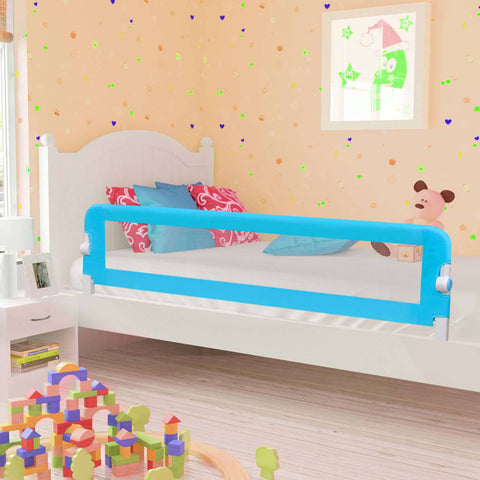 Toddler Safety Bed Rail Blue 180x42 cm Polyester