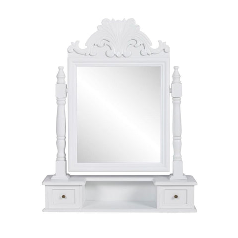 Vanity Makeup Table with Rectangular Swing Mirror MDF