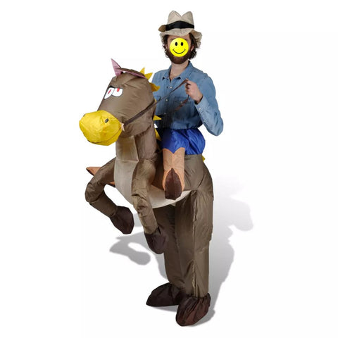 Inflatable Cowboy and Horse Costume