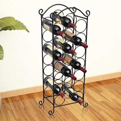 Wine Rack for 21 Bottles Metal