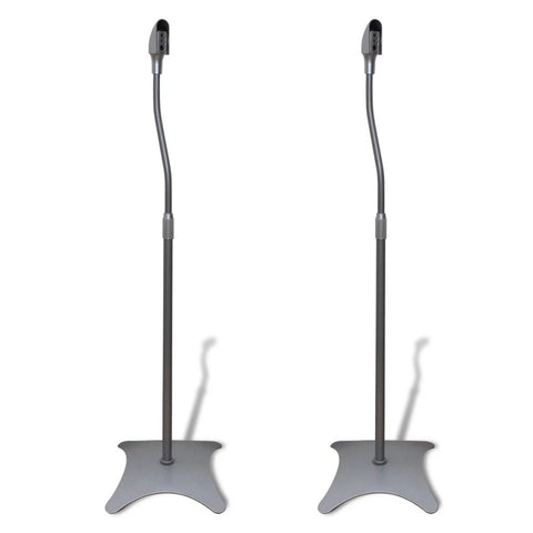 Universal Speaker Stand Silver 2 pcs