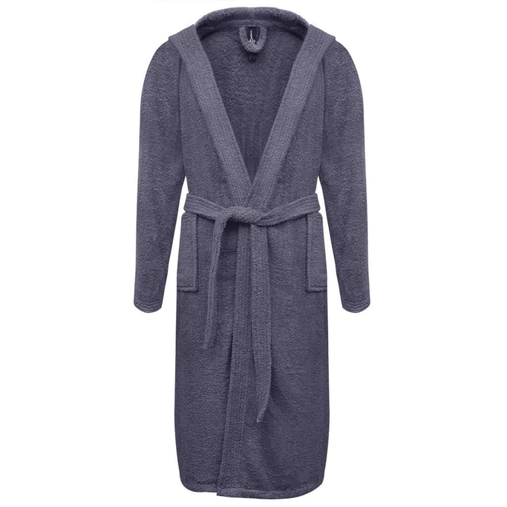 500 g/m² Unisex Terry Bathrobe 100% Cotton Anthracite XL