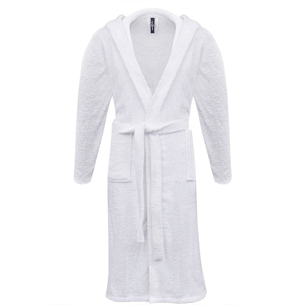 500 g/m² Unisex Terry Bathrobe 100% Cotton White XXL