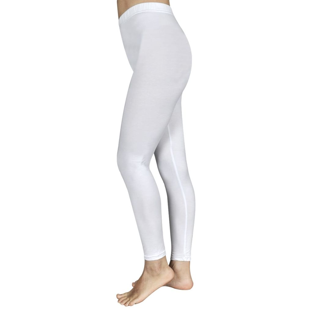 2 pcs Girls' Leggings 110/116 White